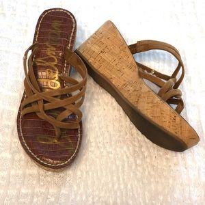 Sam Edelman brown wedge sandals size 7